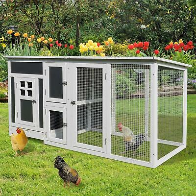 Chicken Coop Poultry House Large Rabbit Nest Hutch Hens Ducks Chickens Coops NEW