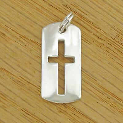 Sterling Silver Engravable Dog Tag Pendant A4517