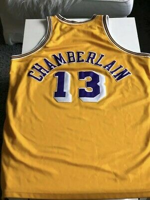 premium selection e562f 86d65 LOS ANGELES LAKERS Wilt Chamberlain Mitchell & Ness Classic ...