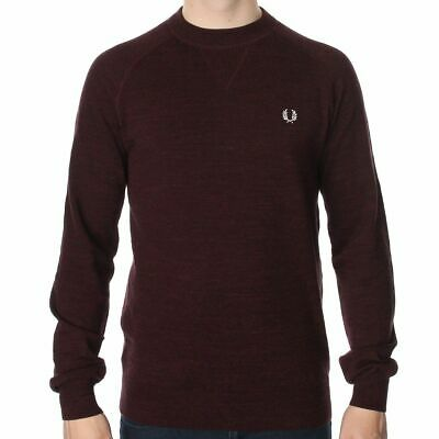 Pacific Marl Fred Perry Needlepunch V-Neck Pullover Sweater Men/'s Sweatshirt