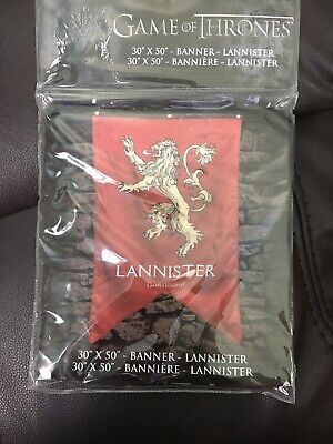 """Game Of Thrones Lannister House Wall Banner Sigil Crest 30"""" X 50"""" NEW!"""