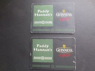 2 different GUINNESS Australia / Paddy Hannan,s Special Issue BEER COASTERS