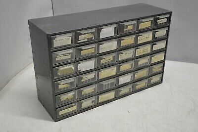 36 Drawer Small Parts Black Metal Cabinet