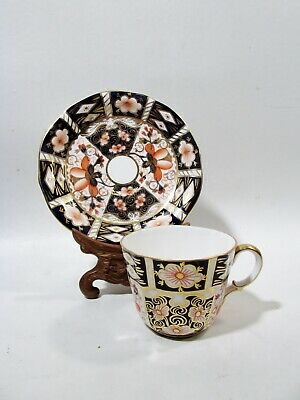Old Royal Crown Derby Bone China Traditional Imari 2451 Cup & Saucer
