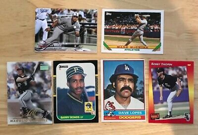 Dads old Baseball Cards 90 Count Lot Covers 5 Decades 70s,80s,90s,00s,10s Read