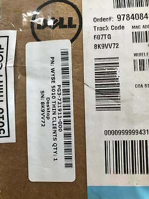 New Open BoX* 909577-01L New Dell Wyse 1GHz 1GB RAM Gigabit Ethernet Client