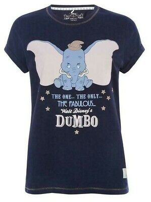 PRIMARK Ladies Girls DISNEY DUMBO Pyjama Pajama T Shirt Tee Top Pyjamas New 6-16