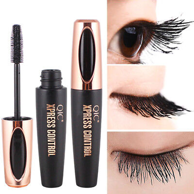 4D silk fiber eyelash mascara extension makeup black waterproof eye lash>s JCAU