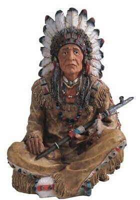 14 Inch Native American Indian Chief Statue Indio Warrior