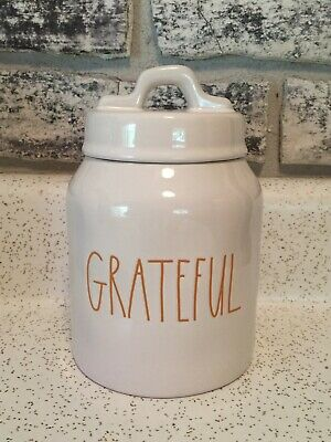 Rae Dunn Grateful Canister Jar Small Brand New!