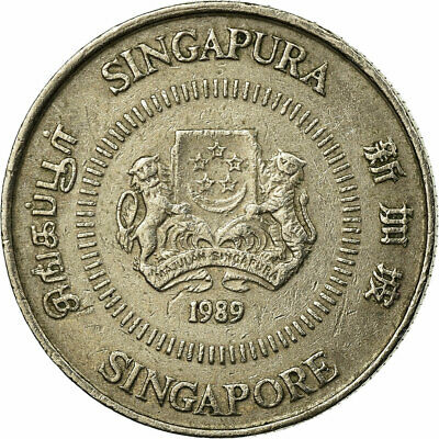 [#686103] Coin, Singapore, 10 Cents, 1989, British Royal Mint, VF(30-35)