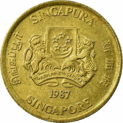 [#700856] Coin, Singapore, 5 Cents, 1987, British Royal Mint, EF(40-45)