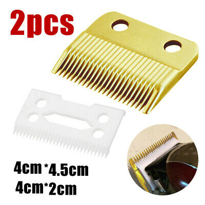2pcs Hair Replacement Ceramic Blade Cutter + Metal Bottom For Wahl Shear Clipper