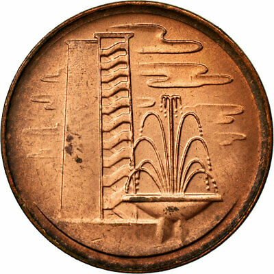 [#690733] Coin, Singapore, Cent, 1981, EF(40-45), Copper Clad Steel, KM:1a