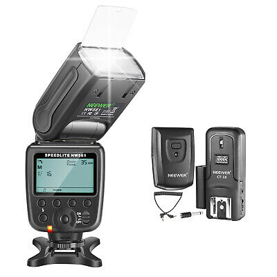Neewer NW-561 GN38 Kit de flash LCD Speedlite con pantalla manual