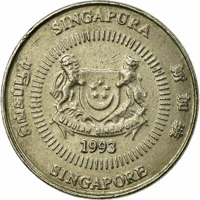 [#686108] Coin, Singapore, 10 Cents, 1993, Singapore Mint, VF(30-35)