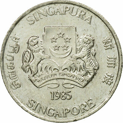 [#444595] Coin, Singapore, 20 Cents, 1985, British Royal Mint, EF(40-45)