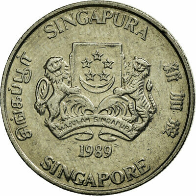 [#680963] Coin, Singapore, 50 Cents, 1989, British Royal Mint, EF(40-45)