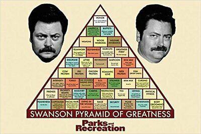 Parks and Recreation - Swanson Pyramid of Greatness 36x24 TV Art Print Poster