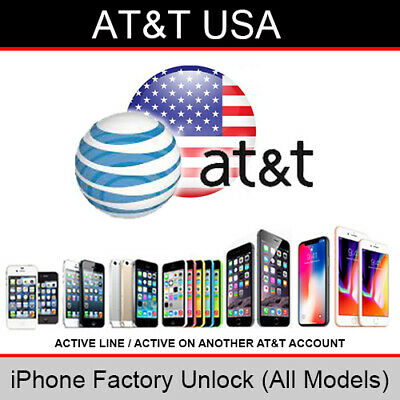 AT&T USA iPhone Factory Unlocking Service (Active on another AT&T account)