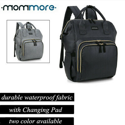 mommore Multi-use Large Mummy Baby Diaper Nappy Backpack Mom Changing Travel Bag