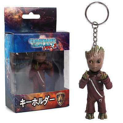 Guardians of the Galaxy Vol.2 Baby Groot Middle Finger KeyChain Figure Xmas Gift