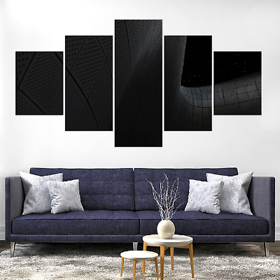 Night Architecture Pattern Canva Print Painting Framed Home Deco Wall Art Poster
