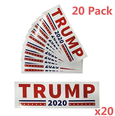 20pc Trump 2020 Campaign President Election Decal Die Cut Stickers Car #ZMH8