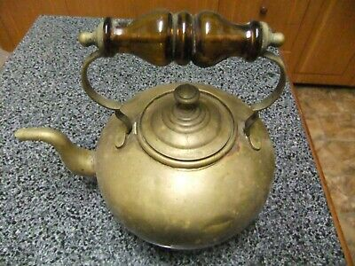 Old Solid Brass Kettle