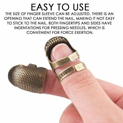 Vintage Finger Protector Needle Thimble Antique Ring Metal Stitching Tools M LO