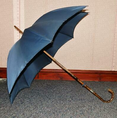 Antique BRIGG London Umbrella W/ Ballroot Handle W/ Pencil & Silver Collar 1910