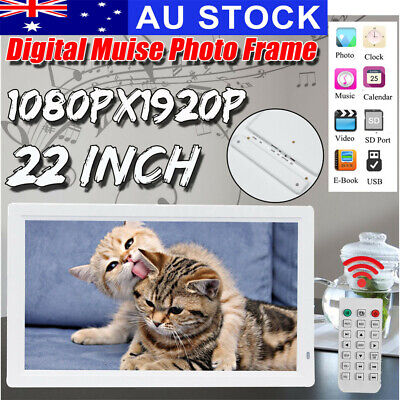 """AU 22"""" HD 1080P LED Digital Photo Picture Frame MP4 Player Video Remote"""