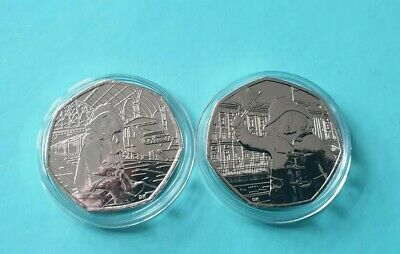 2018 Paddington Bear 50p Set Palace and Station UNCIRCULATED in Capsules