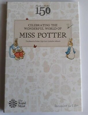 Beatrix Potter 2016 50p coin album folder NEW unused Peter Rabbit and friends