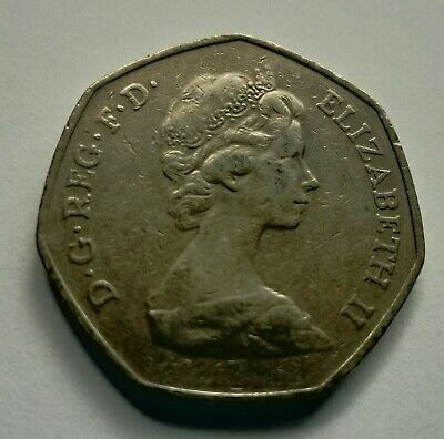 1973 50 pence coin