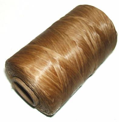 Artificial Sinew Cone Waxed Thread Sinue 300 Yard 70# Primitive Beading NATURAL