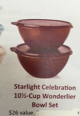 TUPPERWARE Wonderlier 10 1/2 cup Starlight Celebration  set of 2