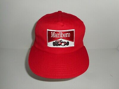 Vintage 80s Marlboro Indy Car Formula One Snapback Cap Hat Made in USA