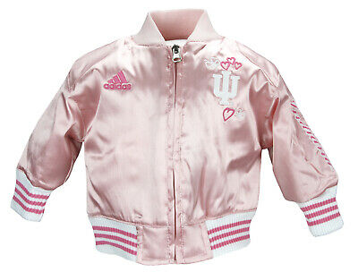 Adidas Infant Baby Girls Indiana Hoosiers Varsity Cheer Jacket - Pink