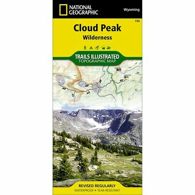 National Geographic Cloud Peak Wilderness Trails Illus Topo Map # 110 - WY