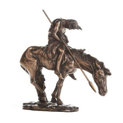 "7.5"" End of Trail Native American Statue Indian Warrior on Horse Statue"