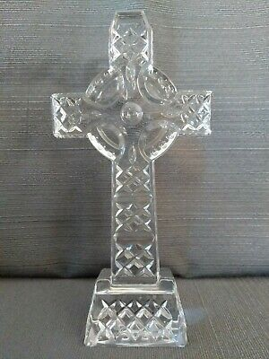 Waterford Crystal Celtic Cross 8 Inches Tall Perfect Etched Diamond Cut No Box