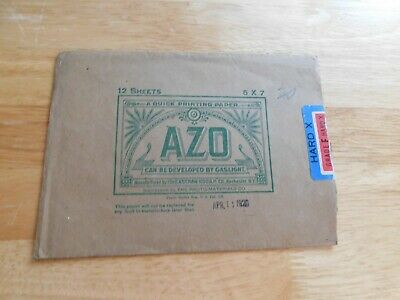 Vintage Kodak Photographic Paper AZO,Envelope only 1920