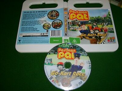 POSTMAN PAT : GO-CART RACE (4 ADVENTURES!) - Rare 2007 ABC For Kids Issue DVD R4