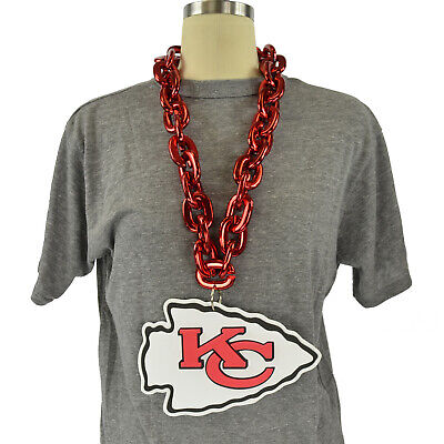 NFL Kansas City Chiefs Fanchain Big Chain Necklace Foam Magnet Made in USA