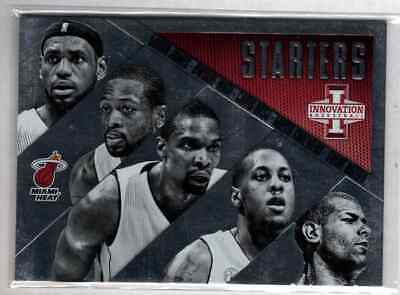 Lebron James Dwyane Wade Chris Bosh Battier 2013-14 Panini Innovation Starters