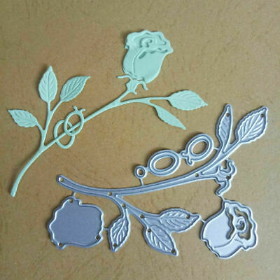 1*Rose Flowers Metal Cutting Dies Stencil DIY Scrapbooking Alubm Photo Card Mold