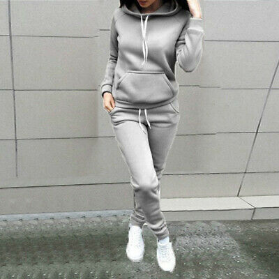 Jogging Sweat Sport Capuche Survêtement Femmes Femme Ensemble Pantalon