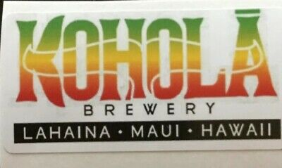 Kohola Brewing Company Sticker decal craft Brewery Micro Lahaina Maui Hawaii HI