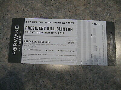 President Bill Clinton Get out the Vote Event ticket 2012